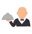 elegant waiter character icon vector image
