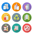 flat design different waste recycle separate vector image