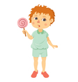 little boy with lollipop vector image