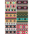 native american fabric collection vector image