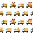 seamless pattern with toy trucks vector image