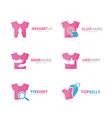 set of t-shirt logo combination garment and cloth vector image