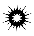 Sun black simple icon vector image