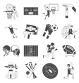 Team sport icons set black vector image