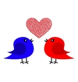Two birds and heart vector image