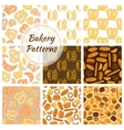Bakery bread and grain seamless pattern vector image vector image