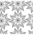 Abstract pattern with lined symmetric fig vector image vector image