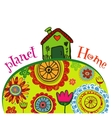 Planet home banner vector image vector image