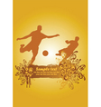 soccer poster1 vector image vector image