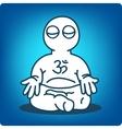 man in meditation vector image