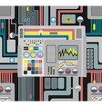 Production system Control Panel seamless pattern vector image