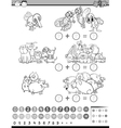 calculate game for coloring vector image vector image