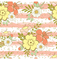 floral seamless pattern pink vector image vector image