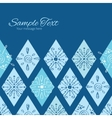 abstract blue doodle rhombus horizontal vector image