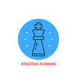 blue round strategic planning logo vector image