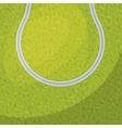 tennis sport emblem design vector image