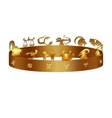 zodiac signs on the ring vector image