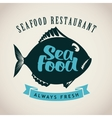 fish for seafood restaurant vector image vector image
