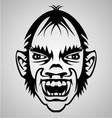 Vampire Face Tribal vector image