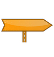 Blank Orange Road Sign vector image