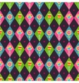 Floral rhombus seamless pattern vector image