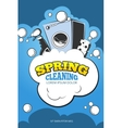 Spring cleaning service concept background vector image