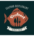 fish and cutlery vector image