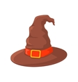 Witch hat with buckle vector image