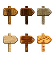 Set wooden pointers vector image