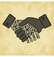 Person hand shake vector image