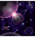 Cosmic Bright Background space planets collision vector image