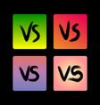 grunge versus signs on gradient backdrop vector image