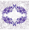 Vintage purple decorative floral frame vector image