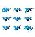 Alphabet W Logo Icons vector image