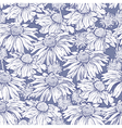 seamless flower camomile vector image vector image