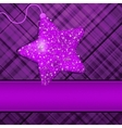 Christmas Purple Stars Background vector image