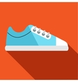 Blue golf shoe icon flat style vector image