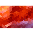 abstract red geometric background cube pattern vector image