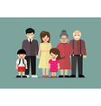 Big family together in flat style vector image