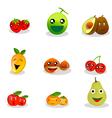 Funny Fruit Cartoon vector image