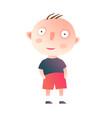little kid boy standing vector image