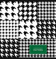 seamless black and white houndstooth background vector image
