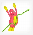 Funny Monster Jumping vector image