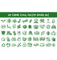 doodle farm icons set vector image vector image