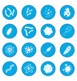 virus icon blue vector image