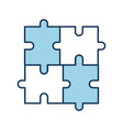 puzzle piece business progress success concept vector image