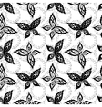 Seamless background butterflies contours vector image