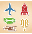 Air Transport Icons vector image