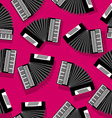 Accordion seamless pattern vector image