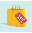 paper shopping bag with vector image